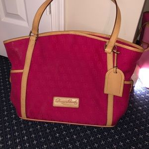 Dooney and Bourke Tote - Hot Pink Fabric
